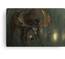 Død elg Canvas Print