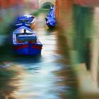 Venice Boats on the Water by Dennis Granzow