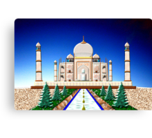 The Taj Mahal - A Love Story Canvas Print