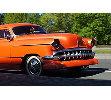 Orange American Car  Photographic Print