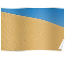 gold sand dune Poster