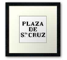 Plaza de Santa Cruz, Street Sign, Seville, Spain Framed Print