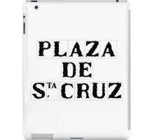 Plaza de Santa Cruz, Street Sign, Seville, Spain iPad Case/Skin