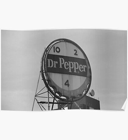 Dr. Pepper Bottle Top Poster