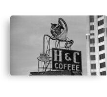 H & C Coffee Canvas Print