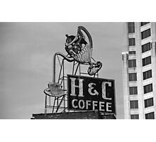 H & C Coffee Photographic Print