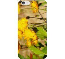 Golden Wildflowers iPhone Case/Skin