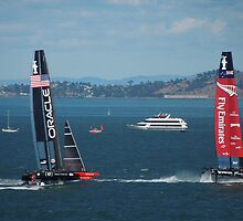 The America's Cup was a close race..... by DonnaMoore