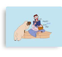 Keep Calm: Belle Canvas Print