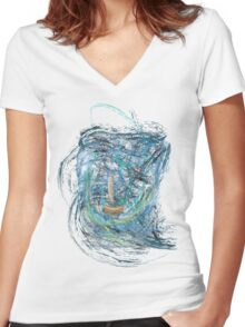 A Ship in Distress Women's Fitted V-Neck T-Shirt