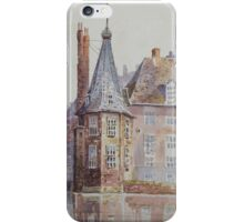 19th century watercolour of The Hague iPhone Case/Skin