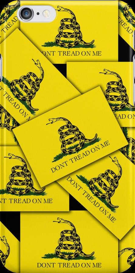 Smartphone Case - Gadsden (Tea Party) Flag VIII by Mark Podger