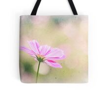 Lovely Pink Cosmos Flower Sunlight Vintage Paper Tote Bag