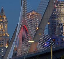 Boston Skyline Night Photography - Iconic Views by juergenroth