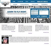 Hess Flying School Website Project by Joshua Jacoby