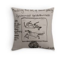 New Version - The Art of Biscuit Getting Throw Pillow