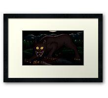 Beware the Moonlit Woods Framed Print