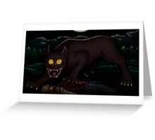 Beware the Moonlit Woods Greeting Card