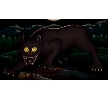Beware the Moonlit Woods Photographic Print