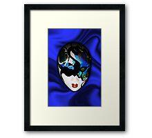 Blue Velvet Venice Mask  Framed Print