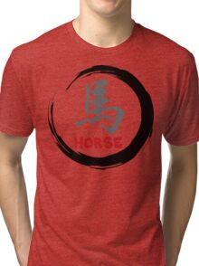 Year of The Horse Sign - Chinese Zodiac Horse Tri-blend T-Shirt