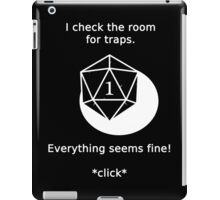 D20 Critical failure - Traps iPad Case/Skin