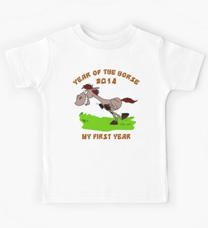 Born 2014 Year of The Horse Baby Kids Tee