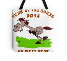Born 2014 Year of The Horse Baby Tote Bag