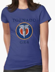 Tornado GR4 illustrated with text Womens Fitted T-Shirt