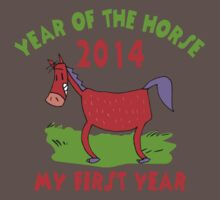 Born Year of The Horse 2014 Baby Baby Tee