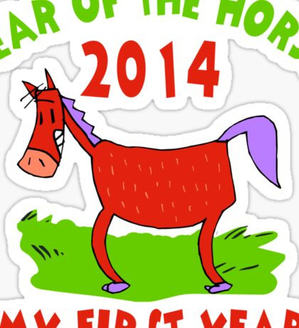 Born Year of The Horse 2014 Baby Sticker