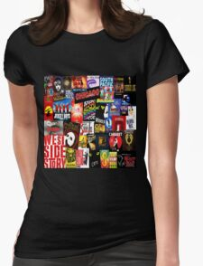 Broadway Collage Womens Fitted T-Shirt