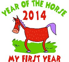 Born Year of The Horse 2014 Baby Photographic Print