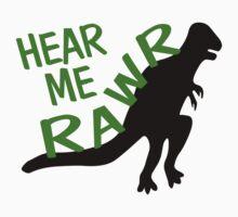 Dinosaur Hear Me Rawr by FireFoxxy