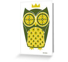 Cute Retro Owl Greeting Card