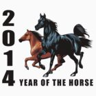 2014 Year of The Horse T-Shirts Gifts Prints by ChineseZodiac