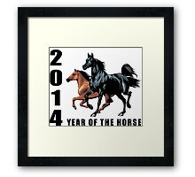 2014 Year of The Horse T-Shirts Gifts Prints Framed Print