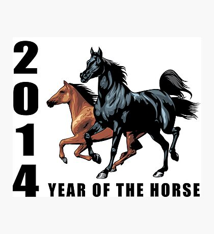2014 Year of The Horse T-Shirts Gifts Prints Photographic Print
