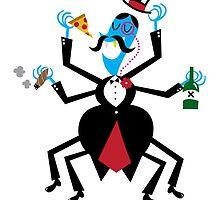 Party Guy Spider by Chris Warren