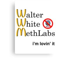 Breaking Bad - Walter White Methlabs - i'm loving it Canvas Print