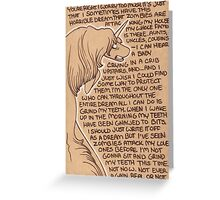 The Loyalty of the Lady Greeting Card