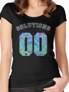 99 problems? 00 solutions! *BLUE JEWEL* Women's Fitted Scoop T-Shirt