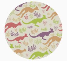 Jumping kangaroos pattern Kids Clothes