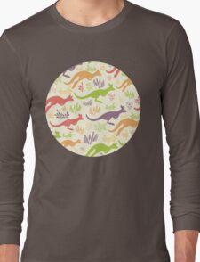 Jumping kangaroos pattern Long Sleeve T-Shirt