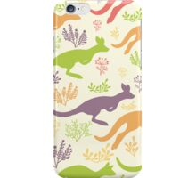 Jumping kangaroos pattern iPhone Case/Skin