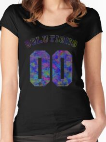 99 problems? 00 solutions! *JEWEL SAPPHIRE* Women's Fitted Scoop T-Shirt