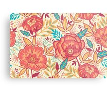 Bright garden pattern Metal Print