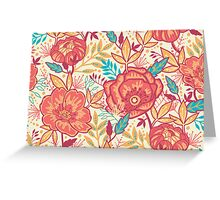 Bright garden pattern Greeting Card
