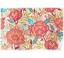 Bright garden pattern Poster