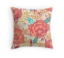 Bright garden pattern Throw Pillow
